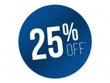 Book in Advance and SAVE 25%*