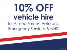 10% Discount on Vehicle Hire for Public Services*