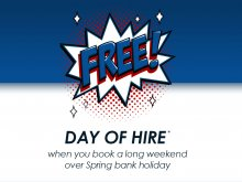 Free Day of Hire over Spring Bank Holiday!