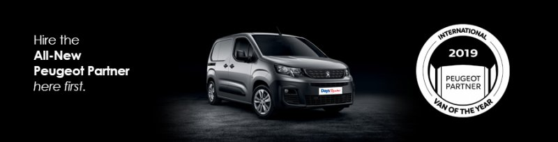 Image for Hire the All-New Peugeot Partner Van here First
